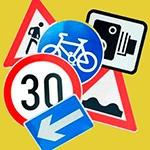 Раскраски дорожные знаки для детей