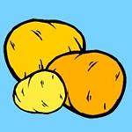 Раскраска картошка