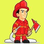 Раскраска пожарный