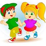 Раскраска девочка и мальчик