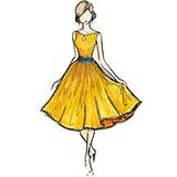 Раскраска платье