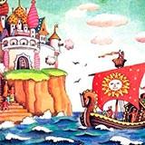 Раскраска сказка о царе Салтане