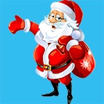 Раскраска Санта Клаус