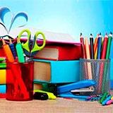 Раскраска школьные принадлежности