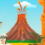 Раскраска вулкан