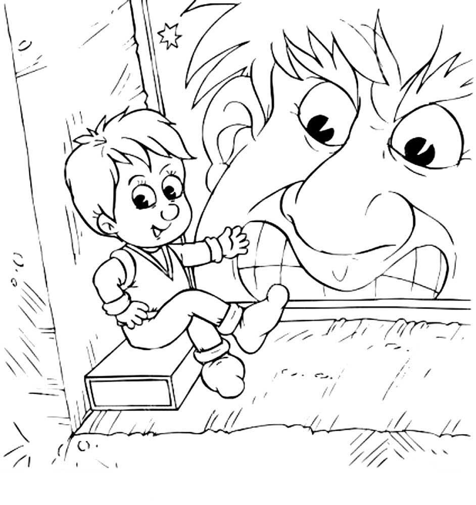 Анимации, картинки мальчик с пальчик раскраска