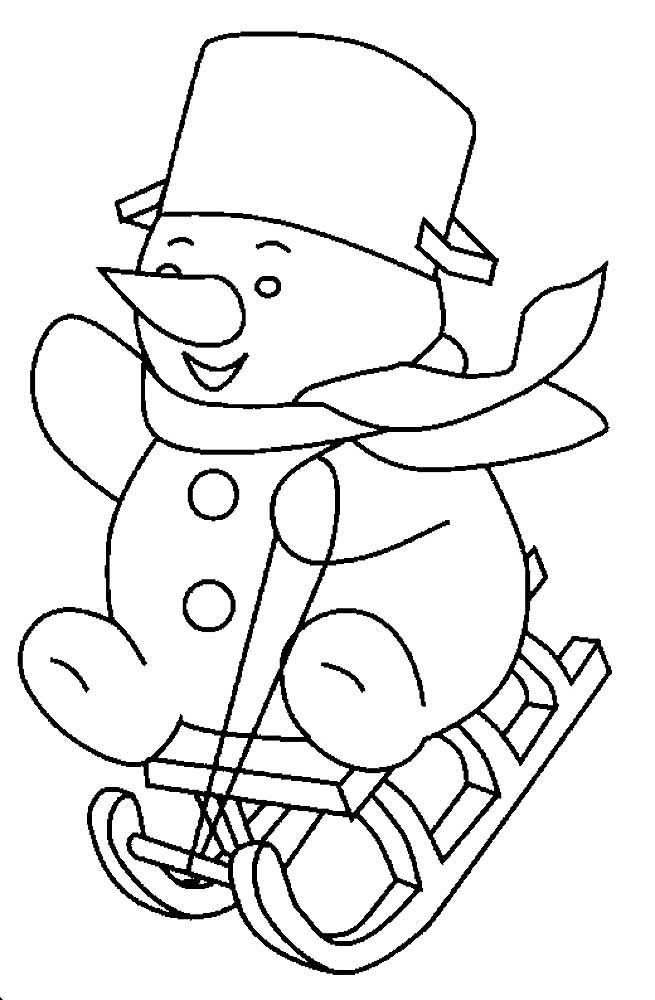 Зашумленная картинка снеговик санки мешок снежинка
