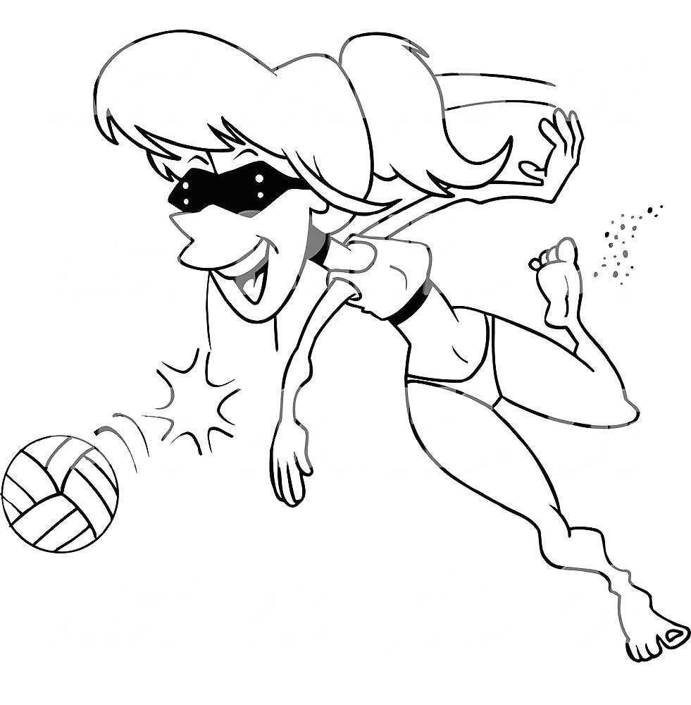 раскраска волейбол скачать и распечатать