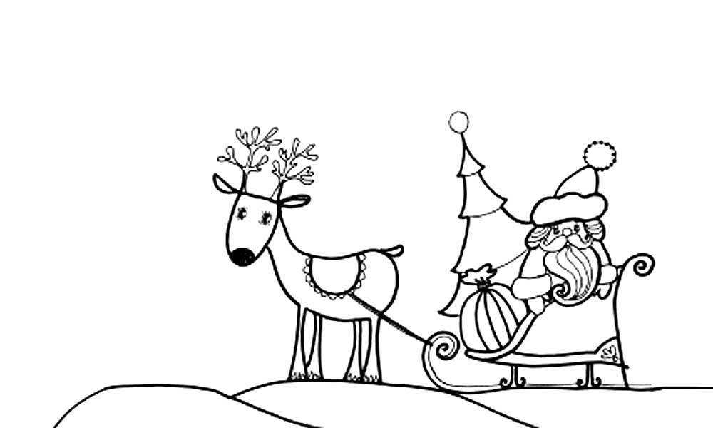 отсечения рисунки сани с оленями также подарил нам