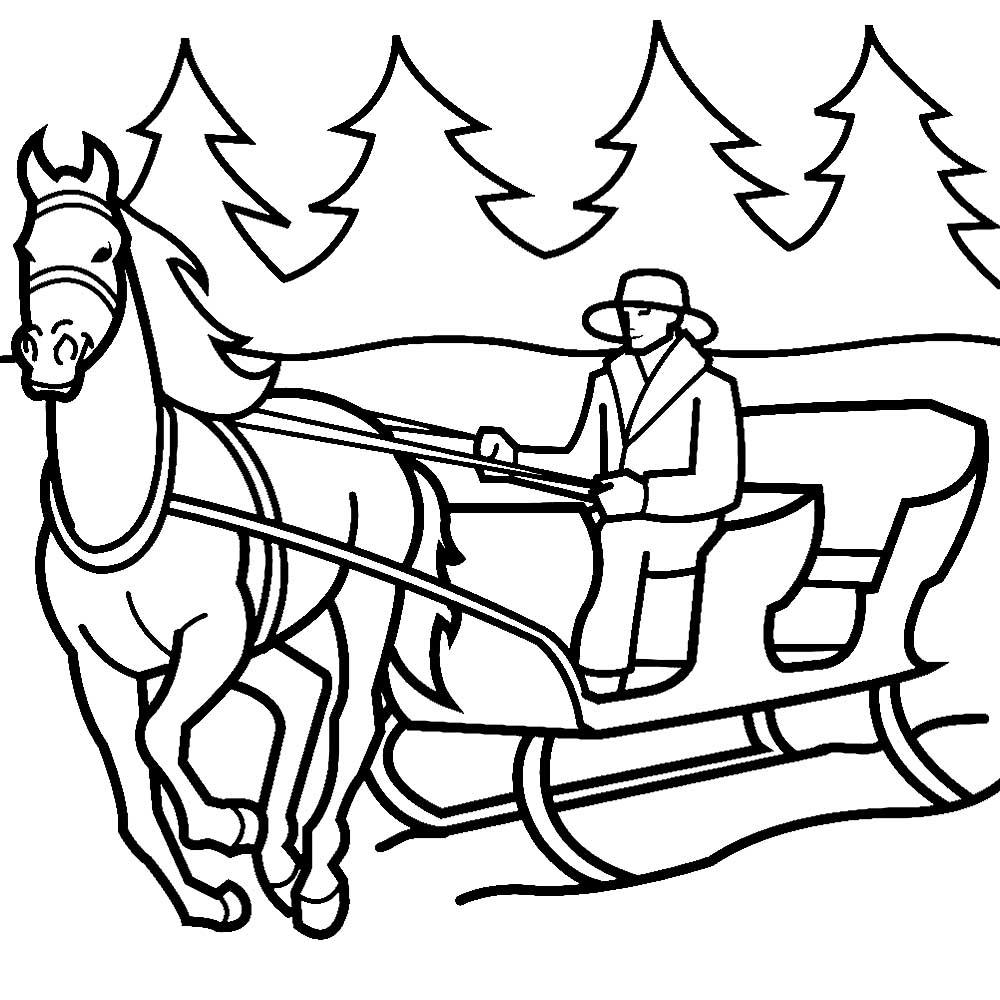 Что изображают, тройка лошадей картинки раскраски