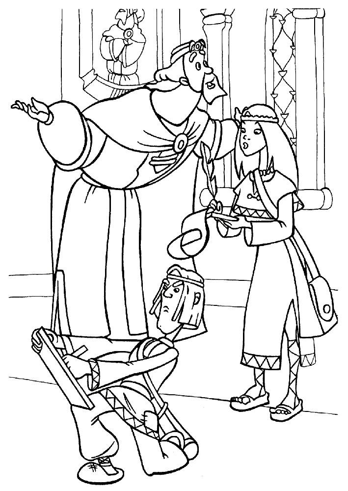 Раскраски богатыри из мультфильмов
