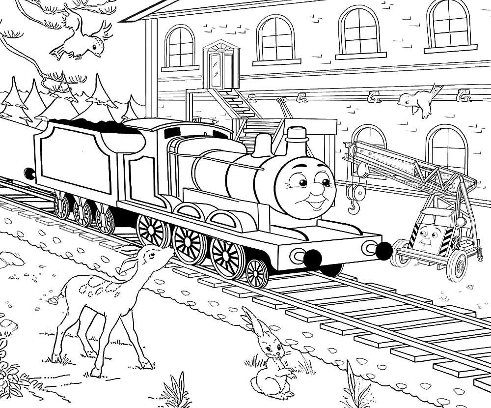 Раскраски детская железная дорога