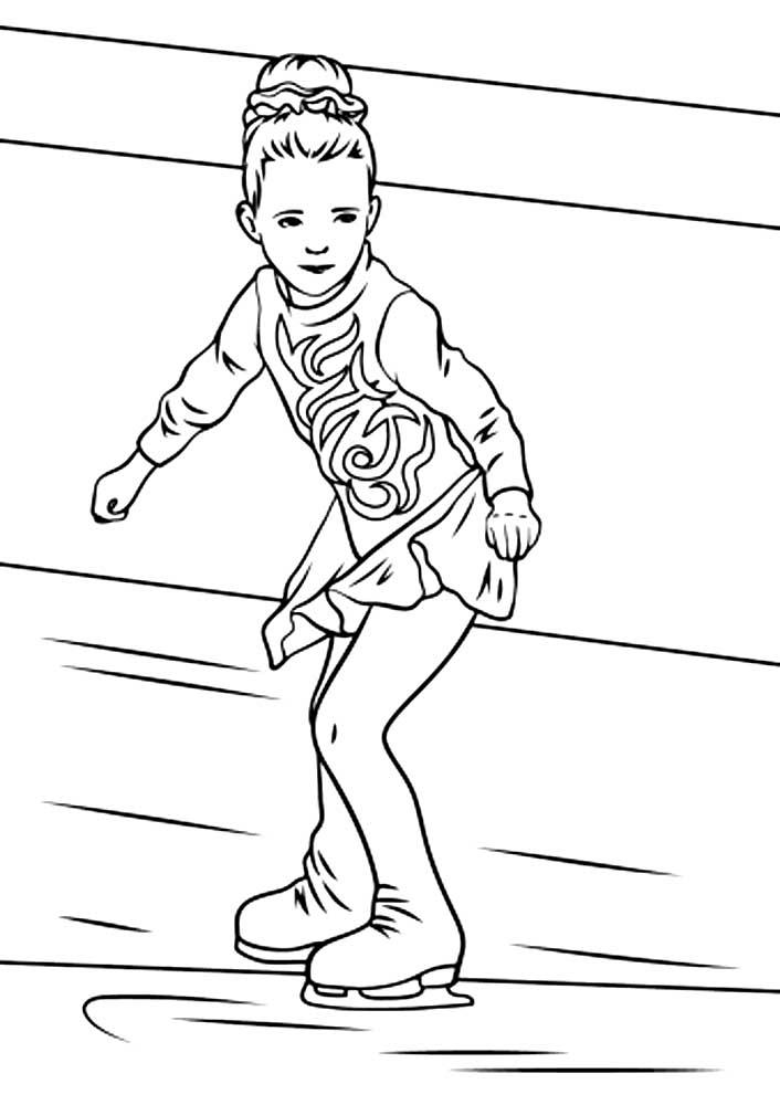 Фигуристы картинки для детей раскраски, надписями