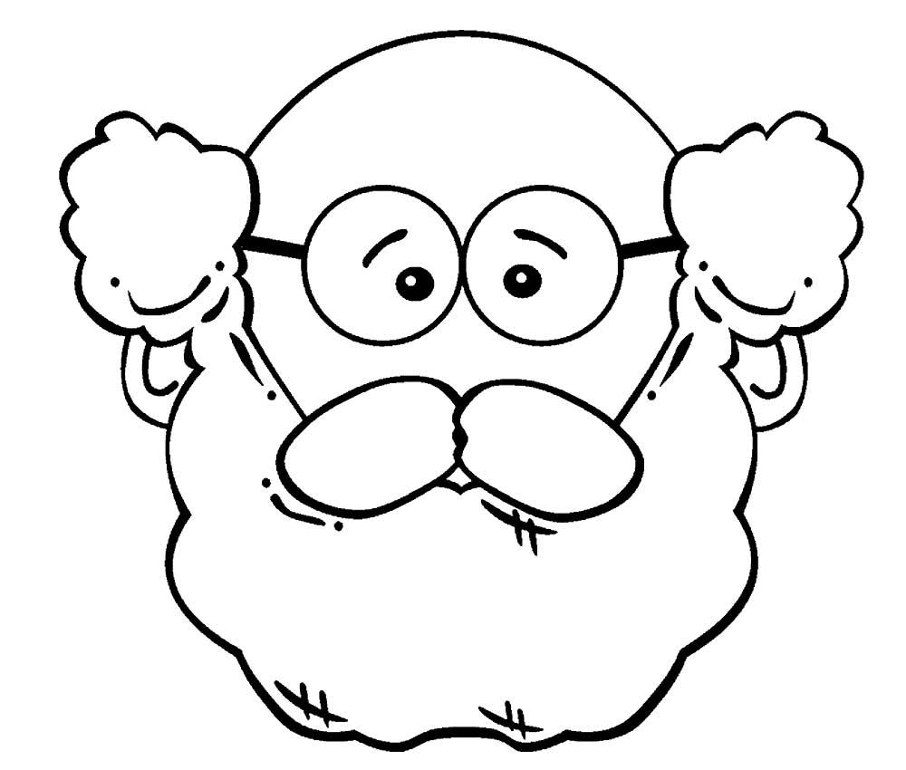 Борода картинка раскраска