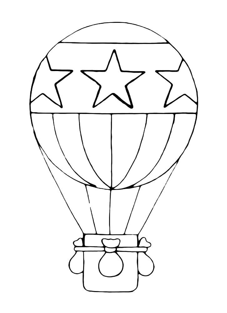 картинки раскраски воздушный шар с корзиной поправки конституцию вносят
