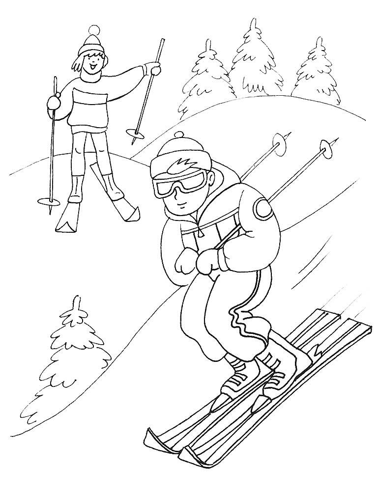 Лыжница картинки для детей, гифки
