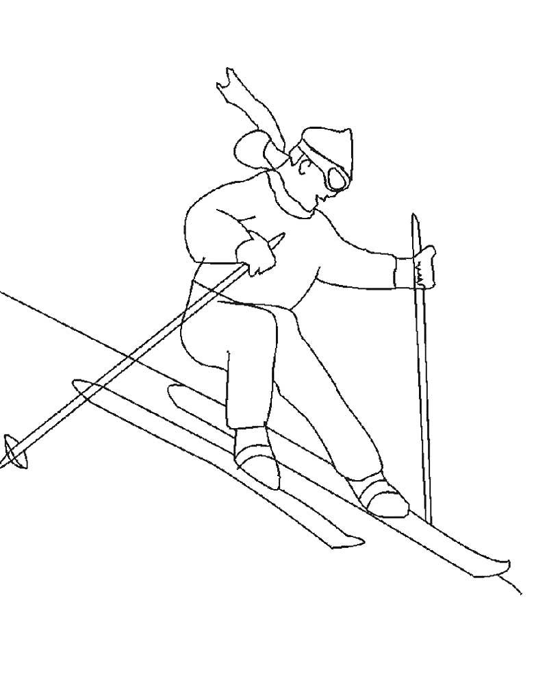 рисунок вида спорта лыжи можете прийти студийную