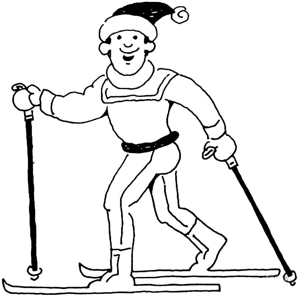 Картинки на лыжах карандашом