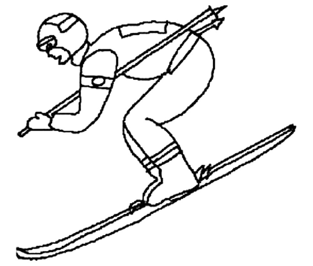 Картинки на лыжах карандашом, свадебные