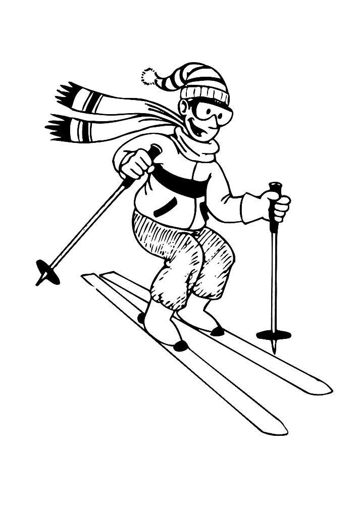 Картинки горные лыжи для срисовки