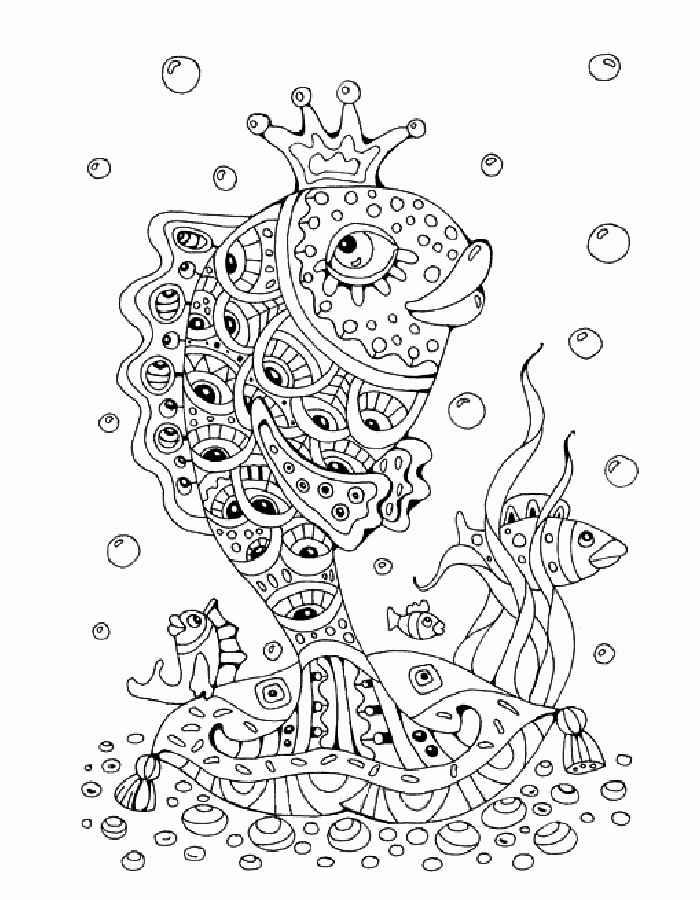 Раскраска рыбка распечатать 27