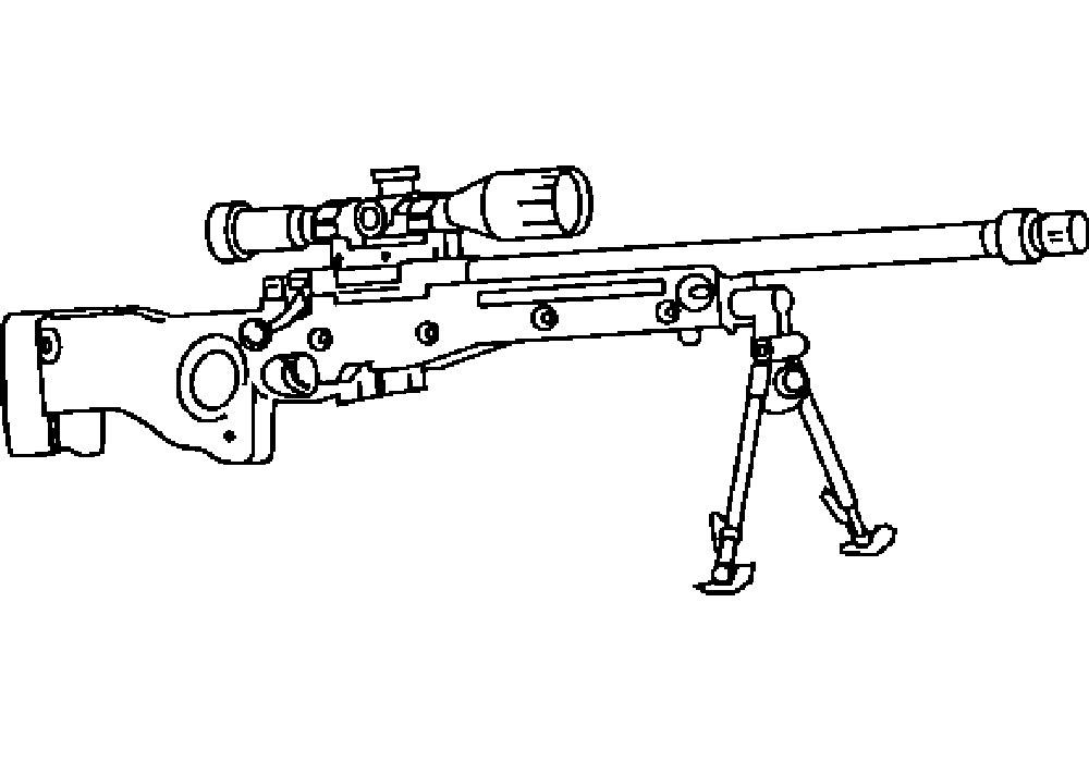 пулемет картинка для раскраски является