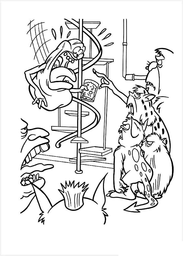 Раскраска мультфильма Охотники за привидениями скачать и ...