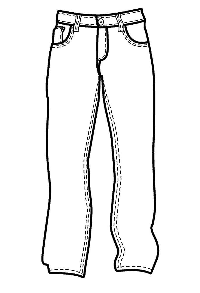 Картинки джинсы нарисованные