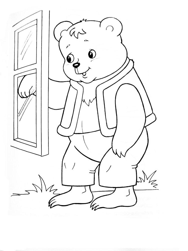 три медведя в картинках раскраска десерт детям или