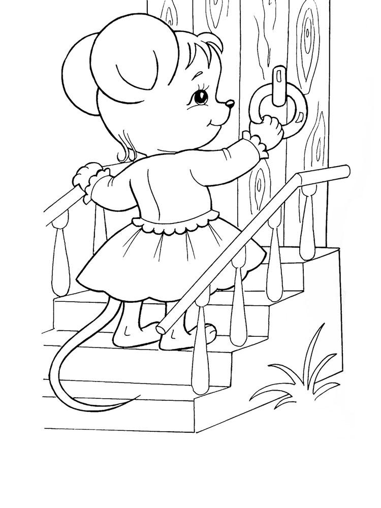 Теремок раскраска для малышей - 3