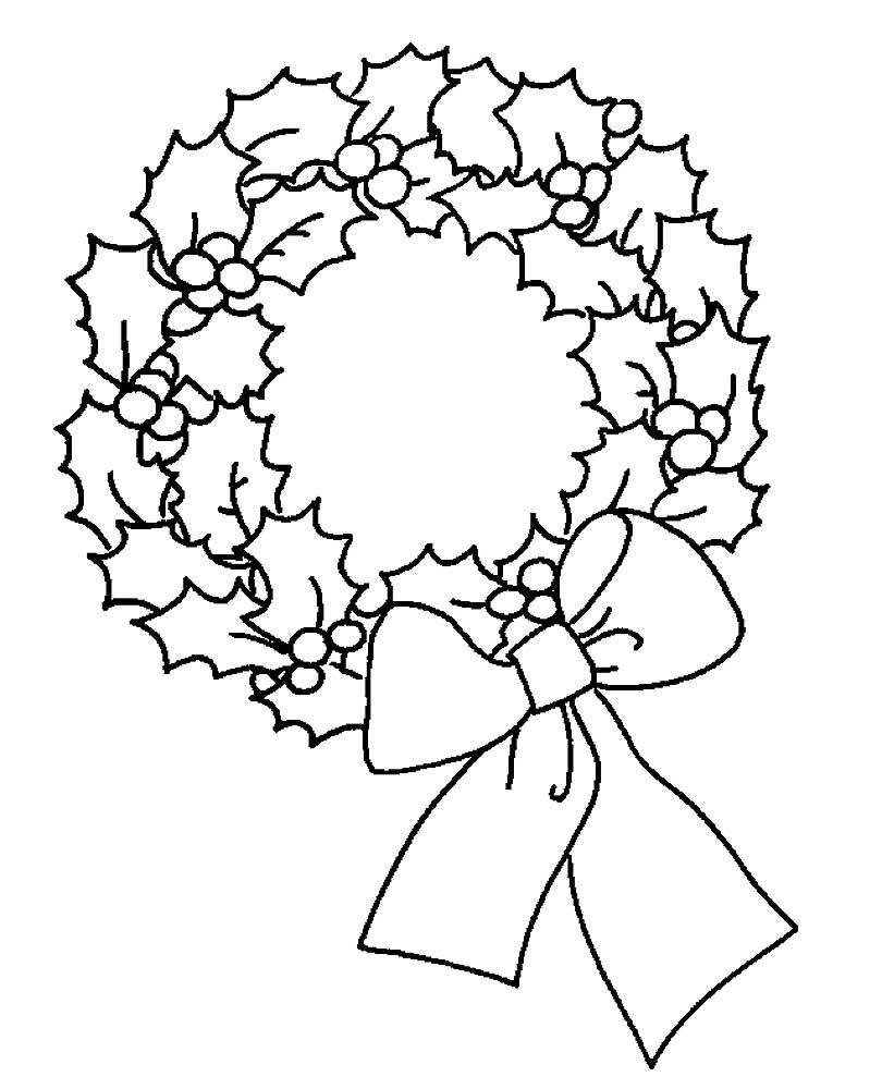 Дети, рождественский венок картинки для распечатки