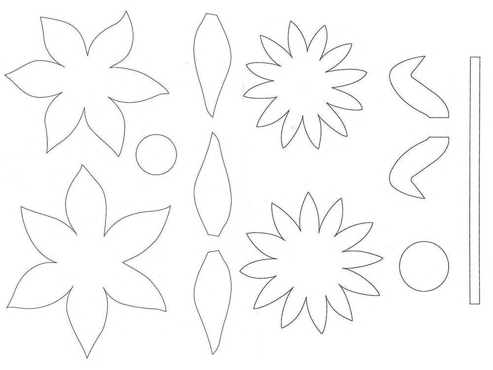 Для, открытка ваза с цветами своими руками из бумаги шаблоны