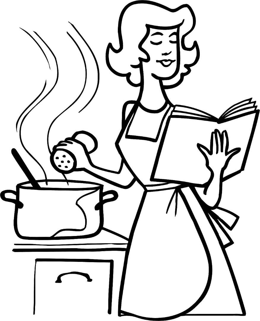 Картинка моя мама повар