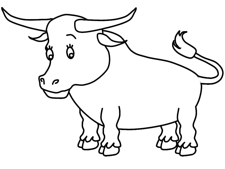 Раскраска бык картинки