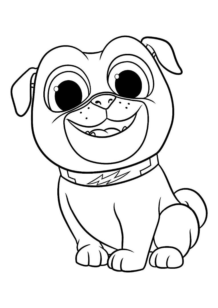 классических картинки раскраски щенки мопса трещины тем, что