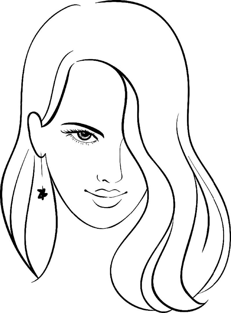 Раскраска женщина скачать и распечатать