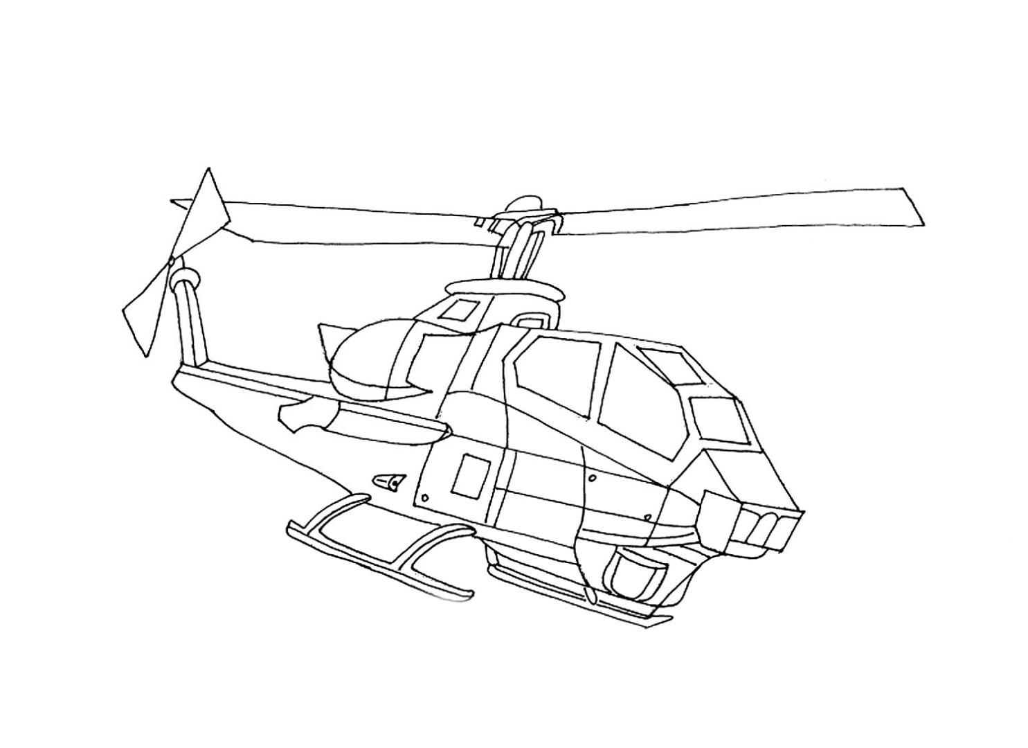 Раскраска военный вертолет скачать и распечатать