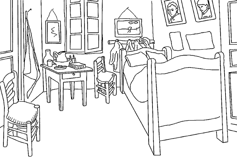 картинки раскраски дом мебель главное что