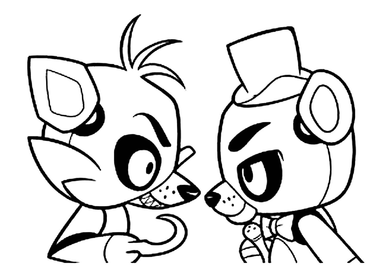 черно-белые картинки милые аниматроники кто