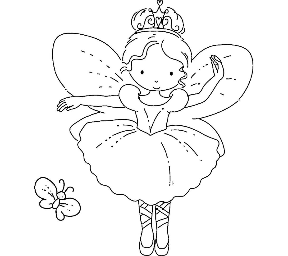 Картинки раскраски с феями для детей