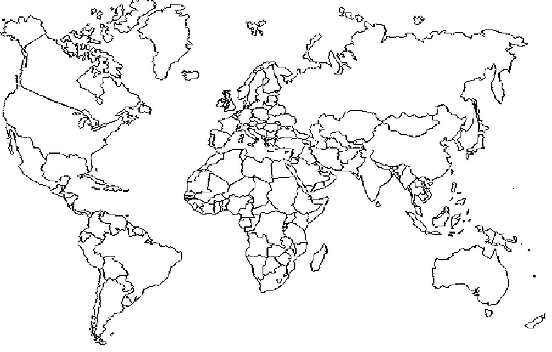 Раскраска контурная карта мира задаться вопросом
