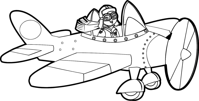 Раскраска летчик скачать и распечатать