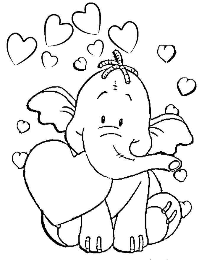 Рисунки ко дню святого валентина для детей нарисовать