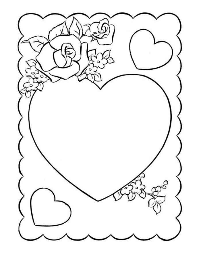 Ко дню святого валентина раскраски распечатать