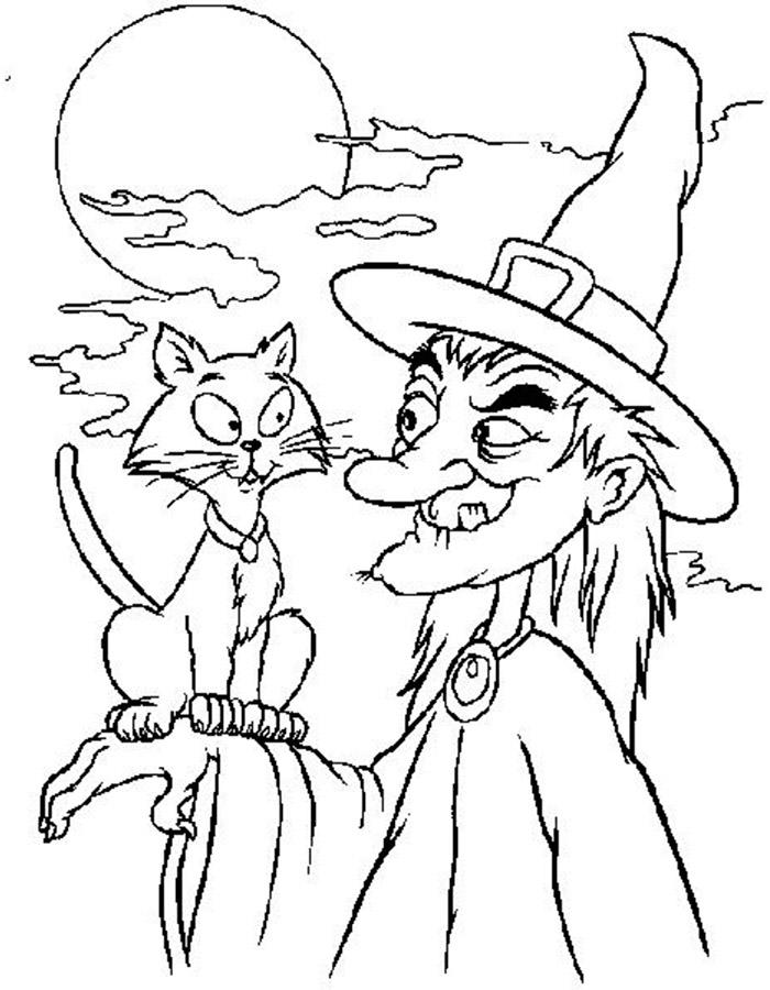 Раскраски на хэллоуин - 10