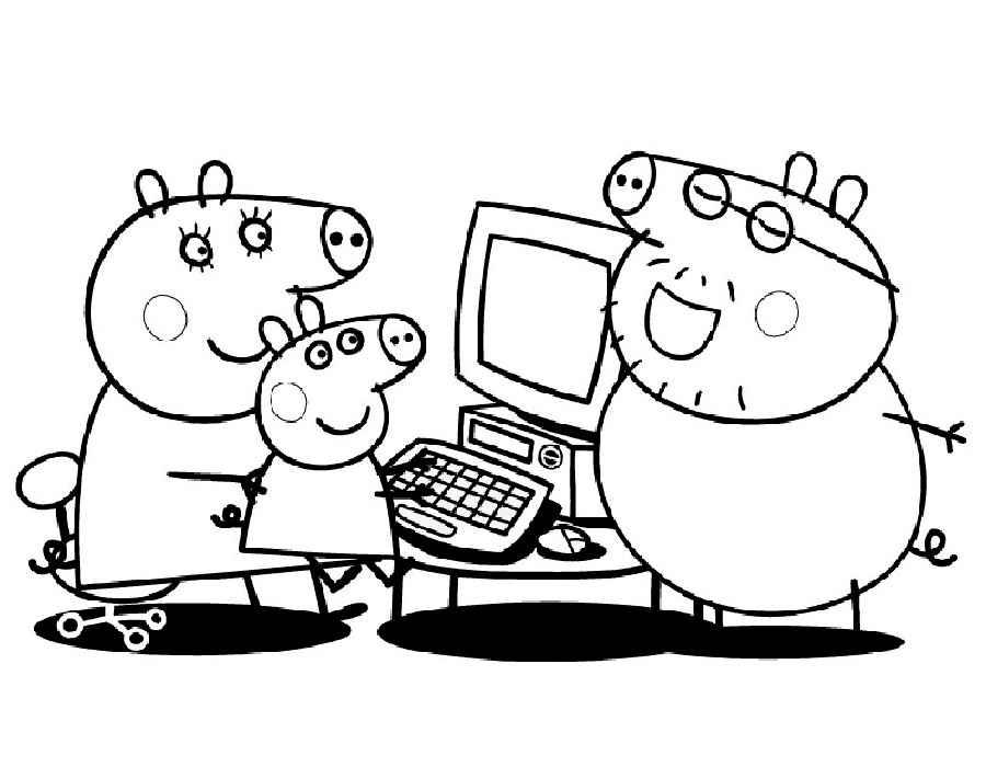 Распечатать свинку пеппу раскраска - 9