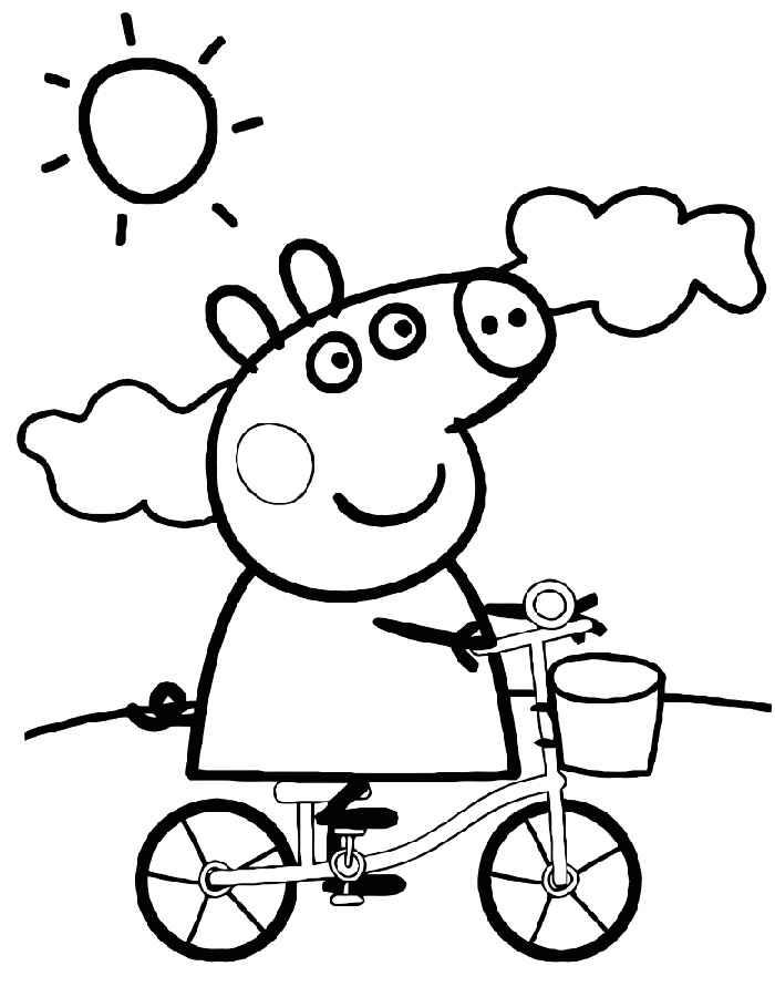 Раскраска Свинка Пеппа скачать и распечатать