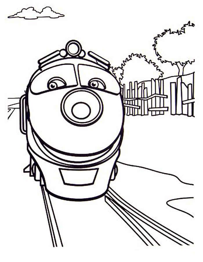 Раскраски поездов для детей