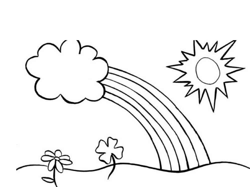 солнечный день рисунок карандашом