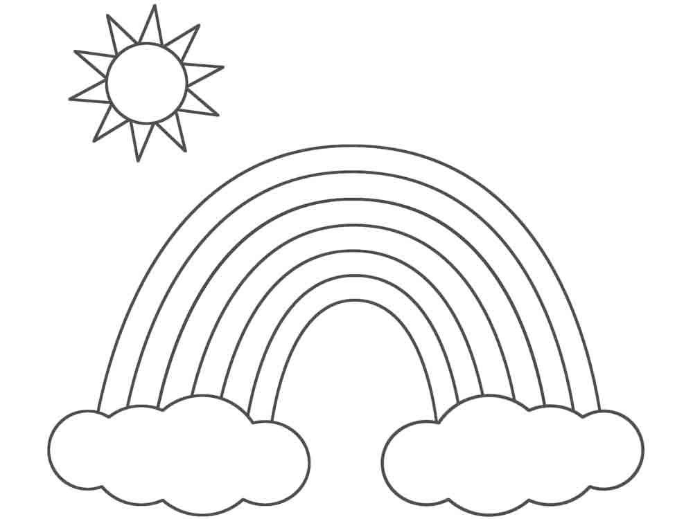 Раскраска радуга скачать и распечатать